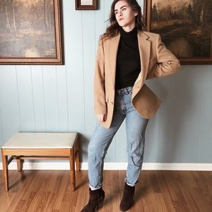Jackets & Blazers - SOLD Vintage Camel Hair Coat | Camelhair Blazer